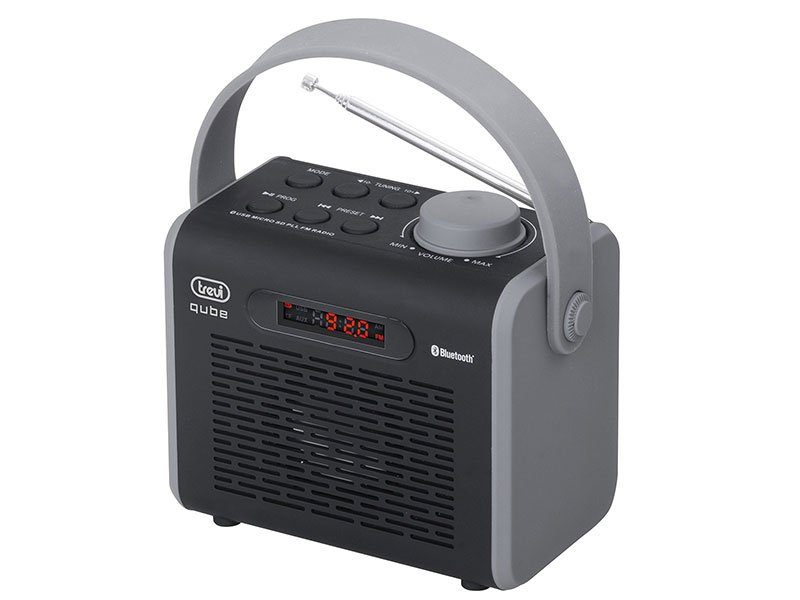 RADIO QUBE CON BLUETOOTH, USB E MP3 TREVI DR 752 BT NERO