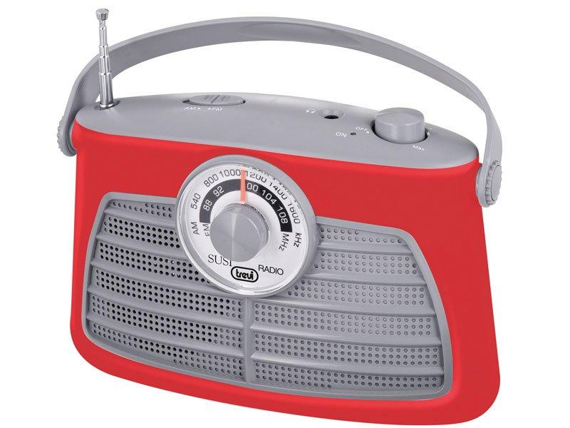 Radio portatile vintage Trevi rossa