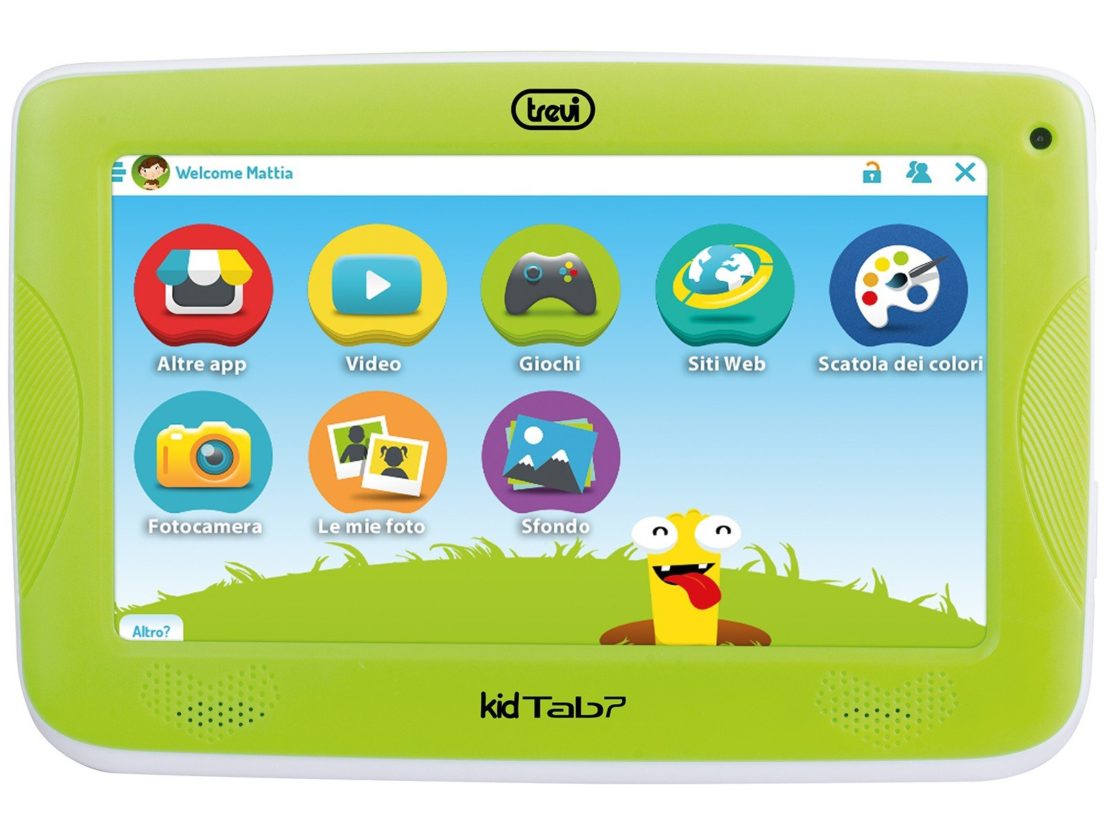 "TABLET 7"" PER BAMBINI TREVI KIDTAB 7 S02 ANDROID VERDE"