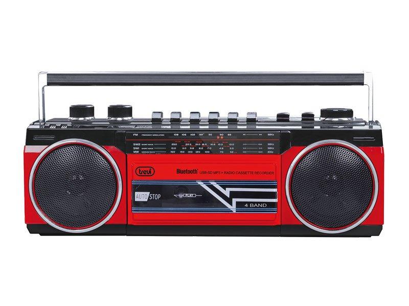 RADIO REGISTRATORE A CASSETTE CON BLUETOOTH TREVI RR 501 BT ROSSO