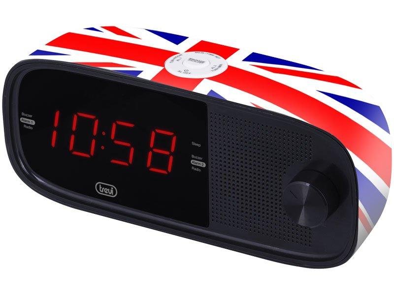 RADIOSVEGLIA ELETTRONICA TREVI RC 853 D UK FLAG