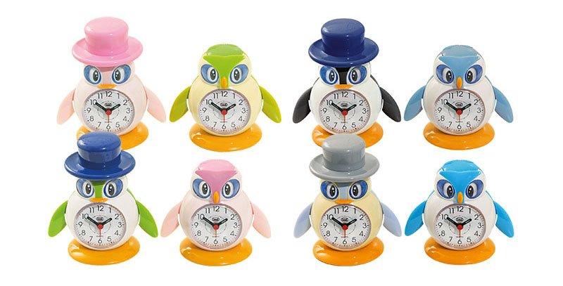 Orologio sveglia per bambini Trevi a forma di pinguino