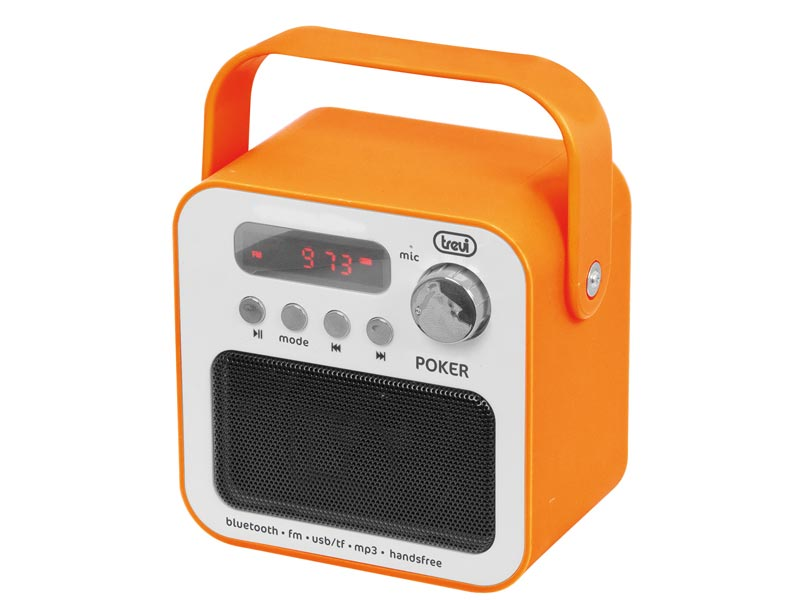 RADIO PORTATILE CON MP3 E BLUETOOTH DR 750 POKER. COLORE ARANCIO