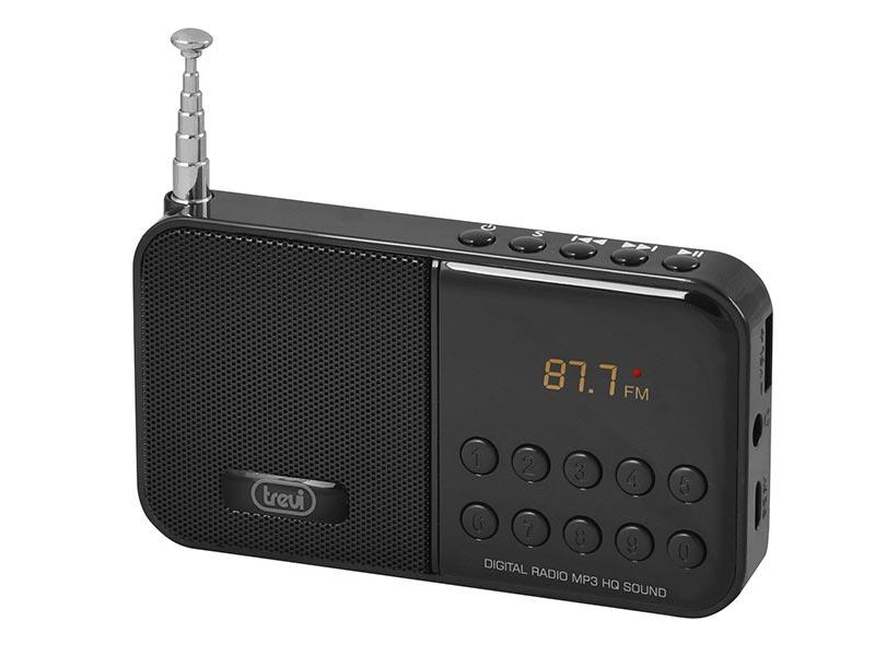 RADIO FM CON LETTORE MP3 E MICRO SD TREVI DR 740 SD