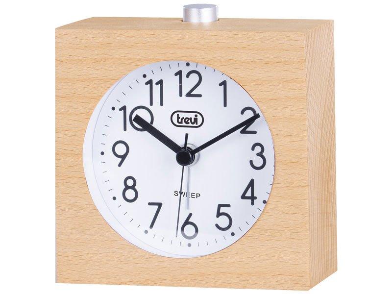 Orologio in legno al quarzo con sveglia TREVI SL 3840