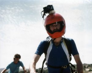 Mark Schulze con la telecamera sul casco