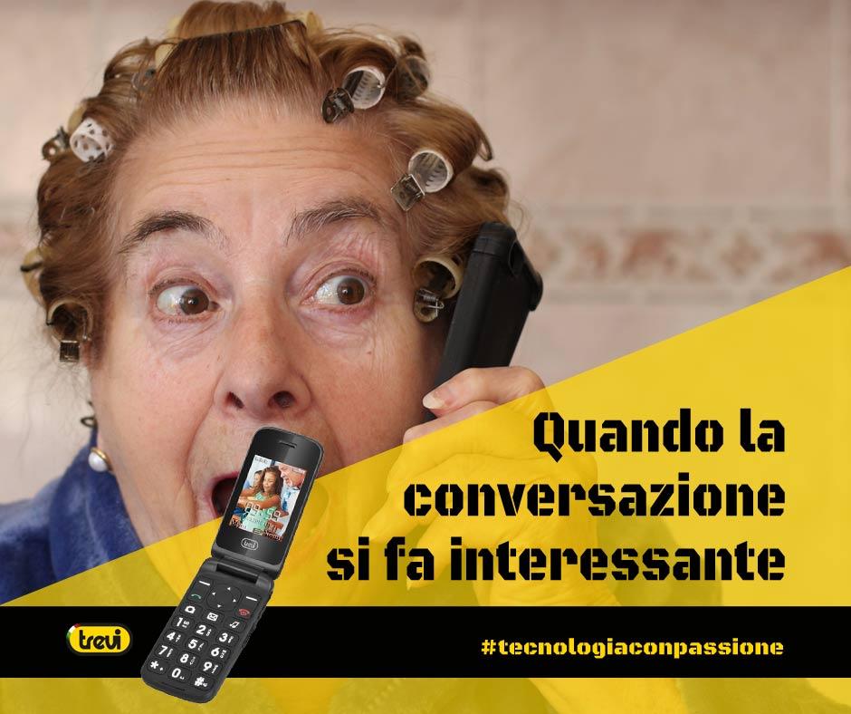 Telefono Cellulare per Anziani a conchiglia Trevi Flex 50 Nero