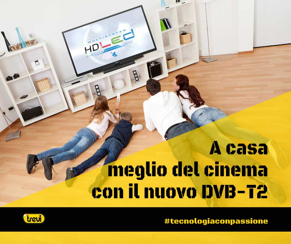 "TV 32"" Led HD Trevi LTV 3204 SAT con HEVC e Satellitare DVB-S2 Nero"