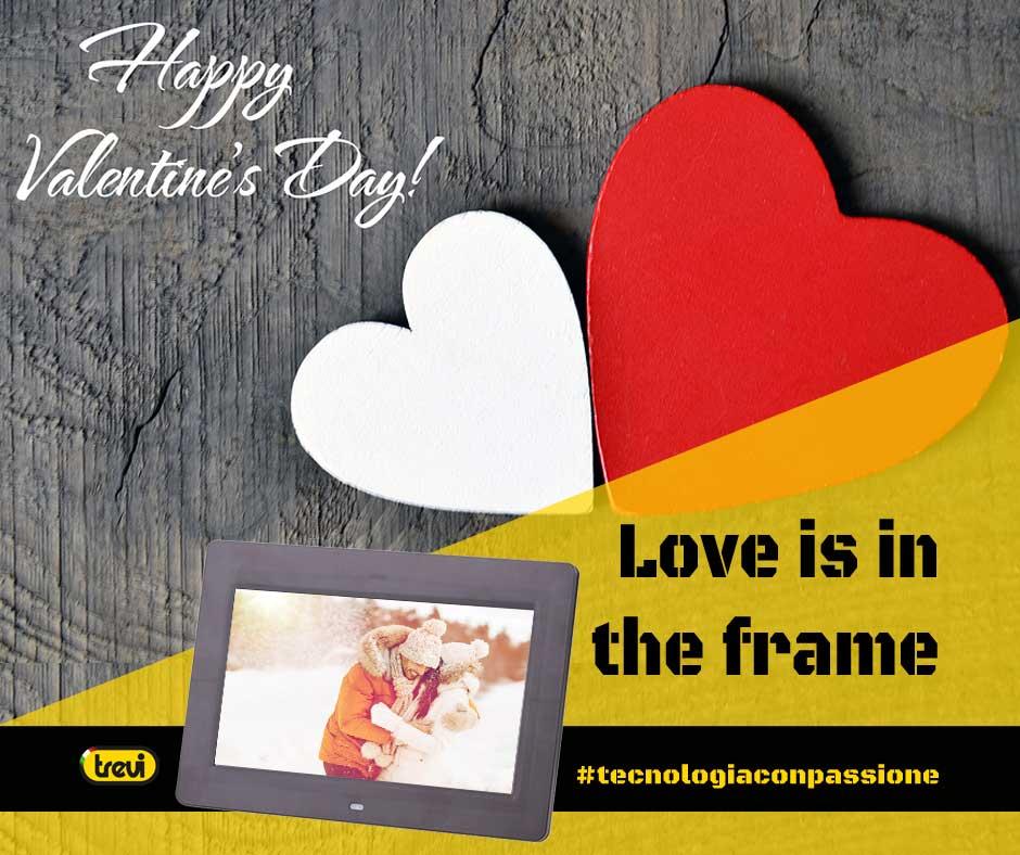 Cornice digitale: regalo per San Valentino