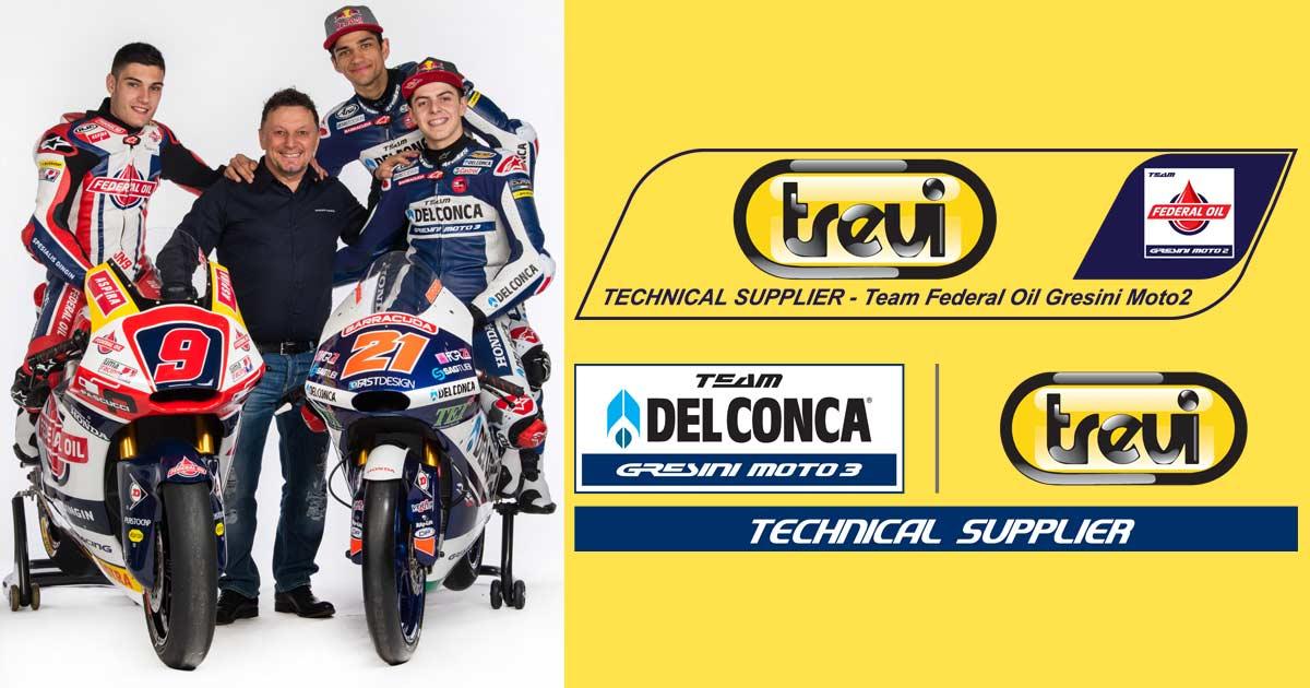 Trevi e la sponsorship tecnica con il team Gresini di Moto2™ e Moto3™