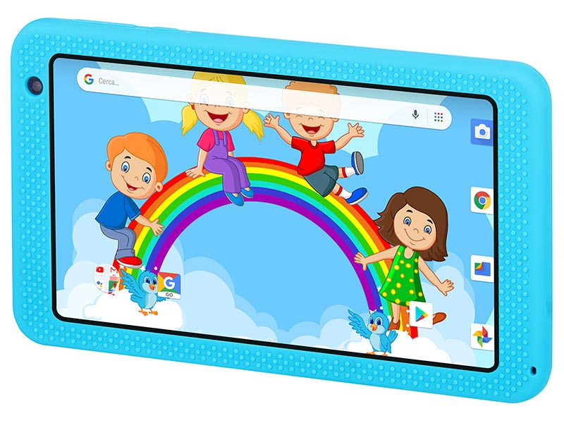 "TABLET PC 7"" QUAD CORE PER BAMBINI TREVI KIDTAB 7 S03 BLU"