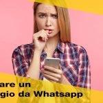 Come cancellare i messaggi Whatsapp inviati per errore