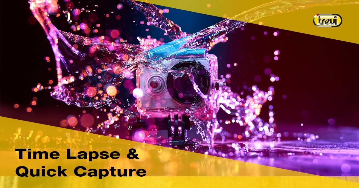 Cosa sono il timelapse e il quick capture in una action camera?