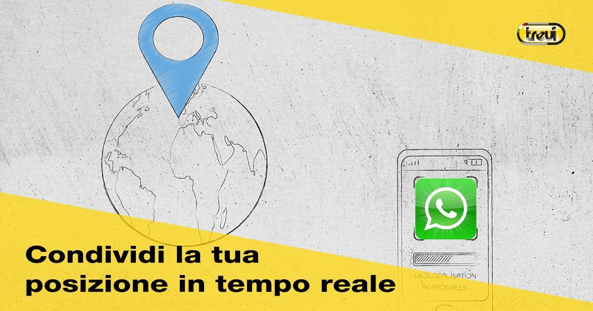 Whatsapp e la condivisione in tempo reale della tua posizione
