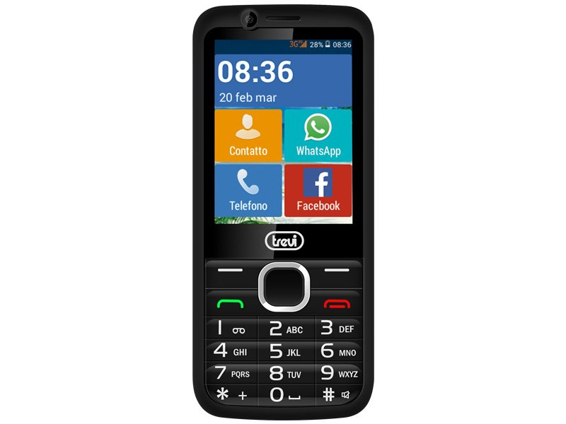 TELEFONO CELLULARE 3G FACILE CON TASTI GRANDI E TOUCHSCREEN TREVI RELAX 90
