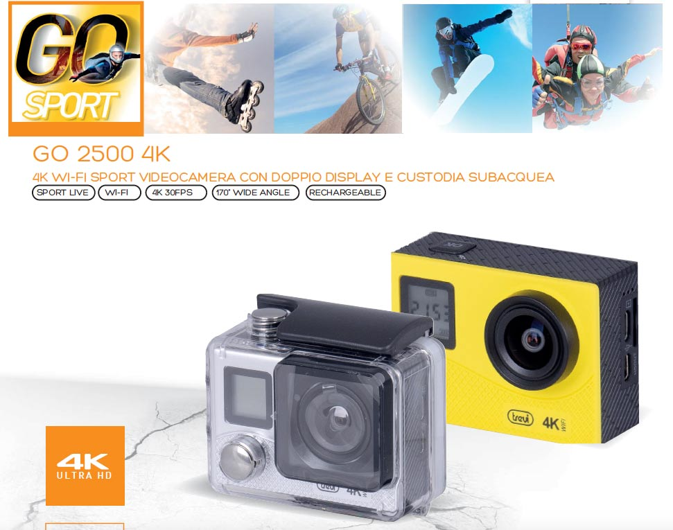 Action Cam TREVI GO 2500 4K