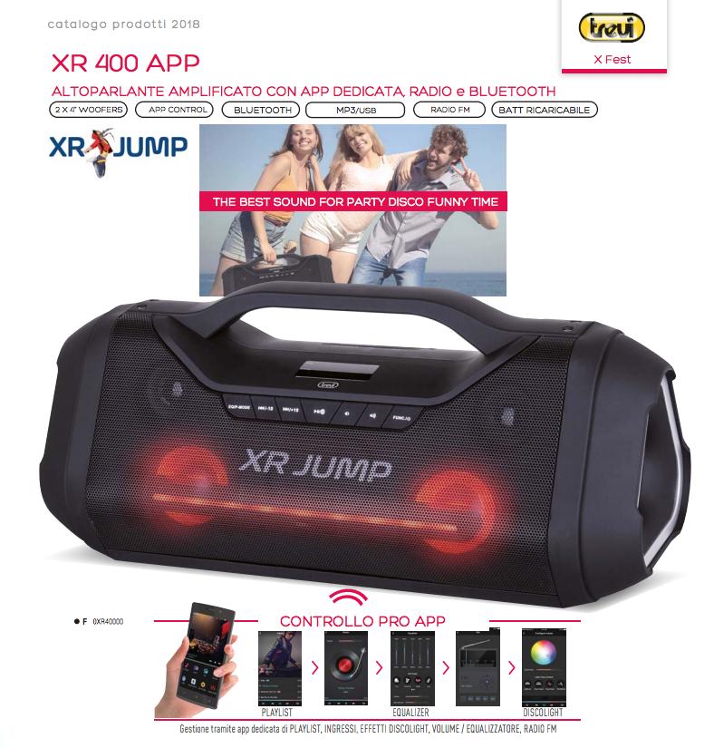 XR JUMP ALTOPARLANTE SPEAKER BLUETOOTH TREVI XR 400 APP
