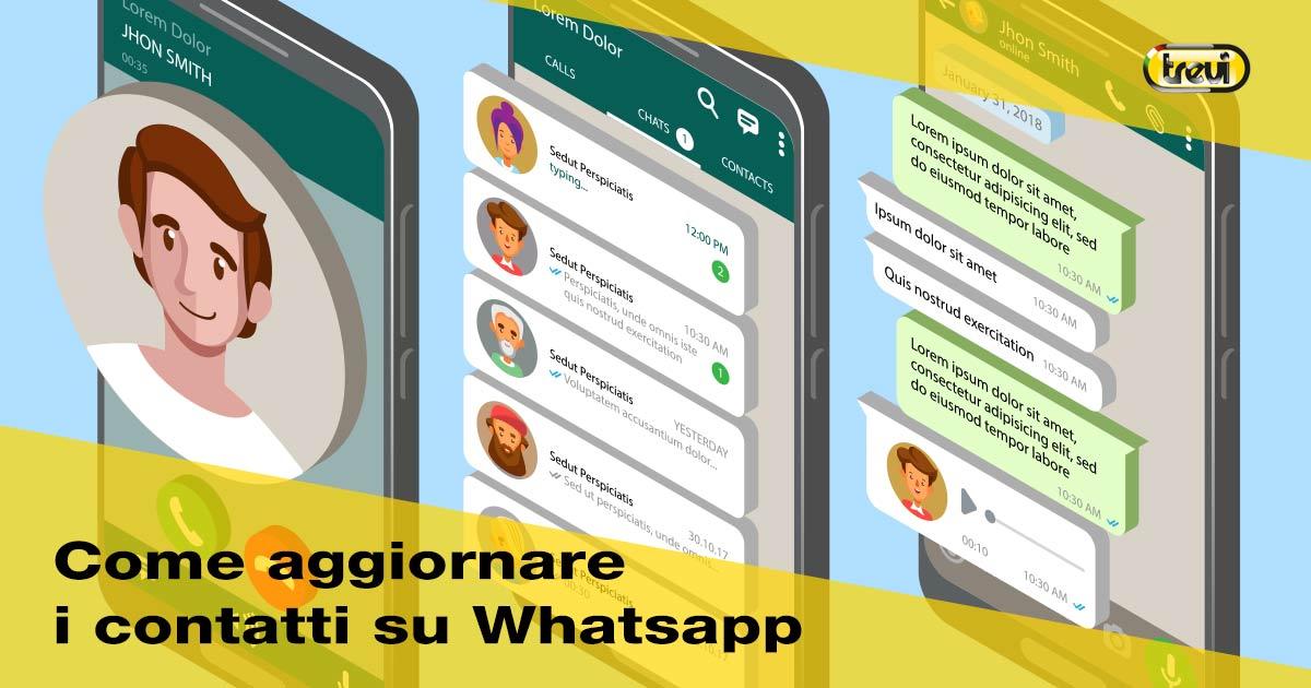 Come aggiornare i contatti WhatsApp